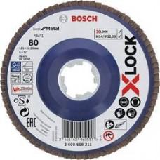 BOSCH X-LOCK Best for Metal vēdekļveida disks 125 mm K80