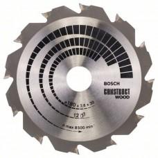 BOSCH ConstructWood griešanas disks 180x2,6 mm T12