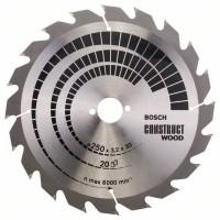BOSCH ConstructWood griešanas disks 250x3,2 mm T20