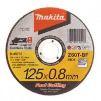Makita Z60T-BF griešanas disks nerūsējošam tēraudam 125x0,8 mm