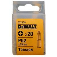 DeWALT skrūvgrieža uzgalis PH2 25 mm (20 gab.)