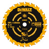 DeWALT ripzāģa disks kokam 184 mm T24