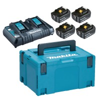 Makita POWERPACK DC18RD + 4xBL1860B  akumulatori un lādētājs