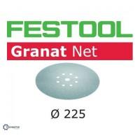 FESTOOL Granat Net slīpēšanas papīrs špakteles P150 225 mm (25 gab.)