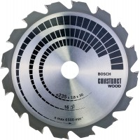 BOSCH ConstructWood zāģa disks 235x2,8 mm T16