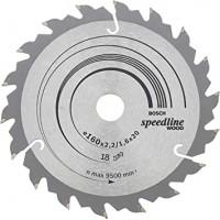 BOSCH SpeedlineWood zāģa disks 160x2,4 mm T18
